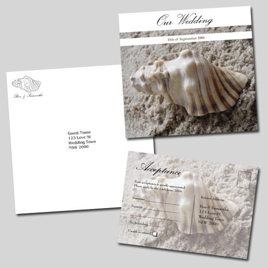 Cyprus Beach Wedding Invitations