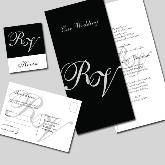 indian wedding card text in english Cyprus Monogram Wedding Invitation