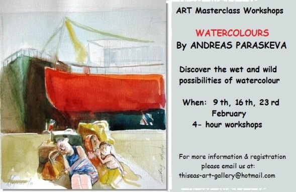 Art Masterclass Workshops-Watercolours by Andreas Paraskevas