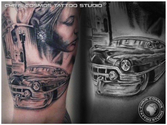 Bonnie And Clyde Tattoo: Tattoos By Chris Tziortzis
